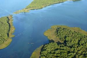 Le lac de Madine - Vue aérienne